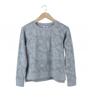 Old Navy Grey Floral Sweater