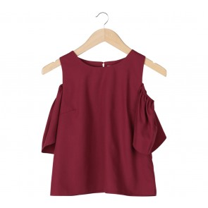 N.Y.L.A Maroon Off Shoulder Blouse