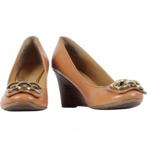 Nine West Brown Tanaya Wedges