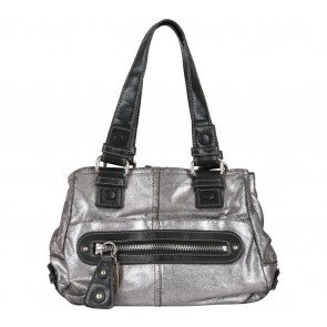 Nine West Silver Crack Tote Bag