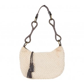 Nine West White Crochet Tote Bag