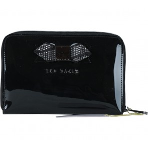 Ted Baker Black Slim Bow Clutch