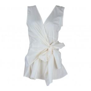 Shop At Velvet Off White Tied Blouse