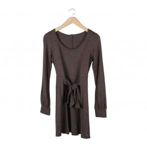 Topshop Brown Mini Dress