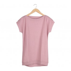 UNIQLO Pink Knit Blouse
