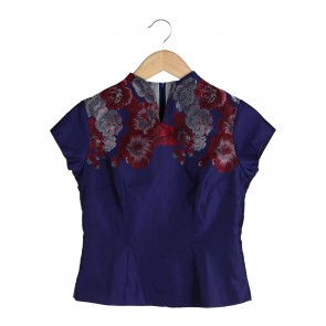 Sissae Purple Floral Blouse