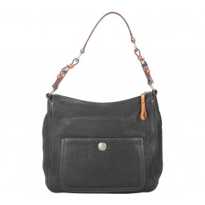 Coach Black 8E98 Chelsea Pebbled Leather Shoulder Bag