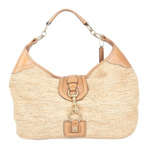 Coach Brown Coach Natural Straw 13374 Millie Flagship Sienna Shoulder Bag