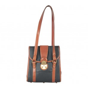 Dooney & Bourke Dark Blue And Brown Shoulder Bag
