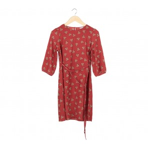 Atmosphere Red froral Mini Dress