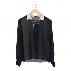 Forever 21 Black And Off White Shirt
