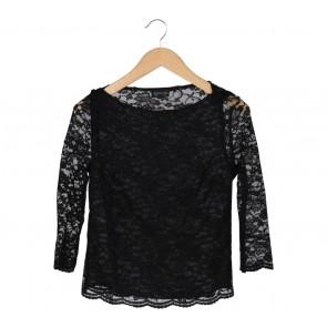 Topshop Black Lace Blouse