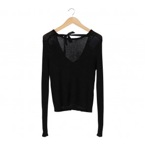 Divided Black Sweater