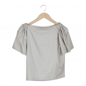Komma Cream Bardot Blouse