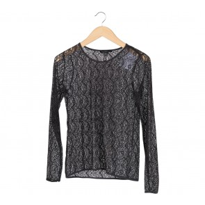 Zara Dark Grey Lace Blouse