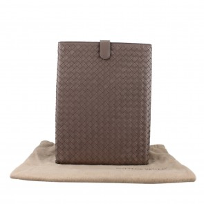 Bottega Veneta Brown Leather iPad Case