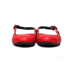 Bottega Veneta Red Slingback Flats