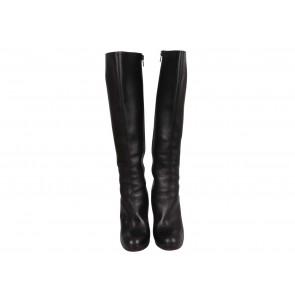 Christian Louboutin Black Calfskin Botta Knee Boots
