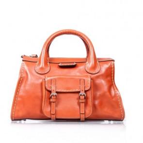 Chloe Orange Edith Tote Bag