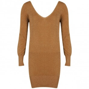 DKNY Brown Midi Dress