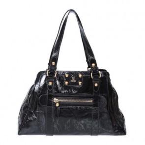 Fendi Black Patent Leather Tote Bag