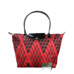 Longchamp Red Longchamp Le Pliage Tote Bag