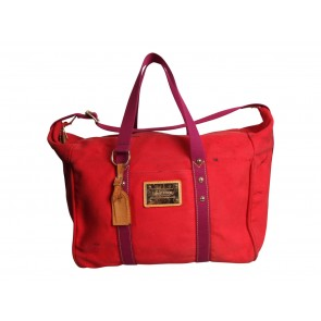 Louis Vuitton Red Inventeur Antigua America´s Cup Canvas Shoulder Bag