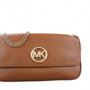 Michael Kors Brown Fulton Luggage Leather Shoulder Bag