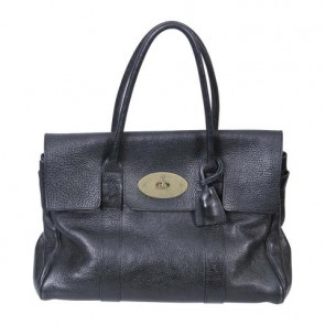 Mulberry Black Bayswater Textured-Leather Tote Bag