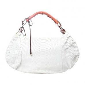 Pauric Sweeney White Python Tote Bag