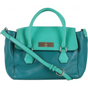 Kate Spade Green Two Tone Satchel