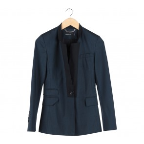 Karen Millen Blue And Black Blazer